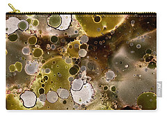 Carry-all Pouch featuring the painting Olive Metal Abstract by Patricia Lintner