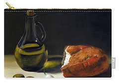 Olive Oil And Bread Carry-all Pouch
