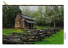 Oliver's Cabin Among The Dogwood Of The Great Smoky Mountains National Park Carry-all Pouch
