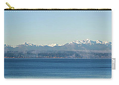 Carry-all Pouch featuring the photograph Olympic Mountains Across Puget Sound by Mary Jo Allen