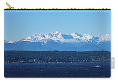 Carry-all Pouch featuring the photograph Olympic Mountains From Shoreline by Mary Jo Allen