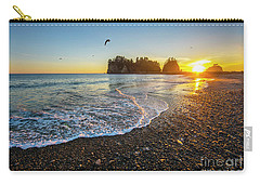 Carry-all Pouch featuring the photograph Olympic Peninsula Sunset by Martin Konopacki