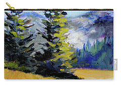 Carry-all Pouch featuring the painting Olympic Range by Nancy Merkle