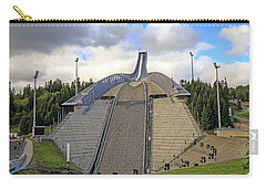 Olympic Ski Jump Oslo, Norway  Carry-all Pouch by Allan Levin