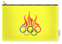 Olympics T-shirt Carry-all Pouch by Herb Strobino