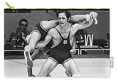 Carry-all Pouch featuring the photograph Olympics: Wrestling, 1972 by Granger