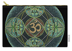Carry-all Pouch featuring the painting Om by Keiko Katsuta