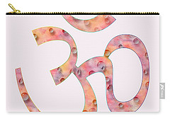 Carry-all Pouch featuring the painting Om Symbol Digital Painting by Georgeta Blanaru