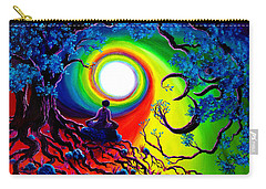 Om Tree Of Life Meditation Carry-all Pouch by Laura Iverson