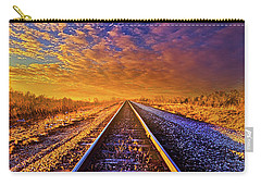 Carry-all Pouch featuring the photograph On A Train Bound For Nowhere by Phil Koch