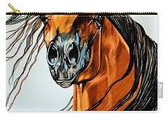 On A Windy Day-dream Horse Series #2003 Carry-all Pouch by Cheryl Poland