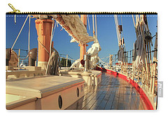 On Deck Of The Schooner Eastwind Carry-all Pouch by Roupen  Baker