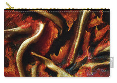 Carry-all Pouch featuring the mixed media On Fire by Angela Stout