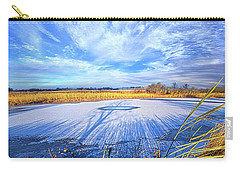 Carry-all Pouch featuring the photograph On Frozen Pond by Phil Koch