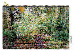 Carry-all Pouch featuring the photograph Reflection On, Oscar - Claude Monet's Garden Pond by D Davila