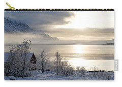 Carry-all Pouch featuring the photograph On My Way Through Lofoten 4 by Dubi Roman