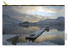 Carry-all Pouch featuring the photograph On My Way Through Lofoten 1 by Dubi Roman