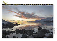 On My Way Through Lofoten 5 Carry-all Pouch by Dubi Roman