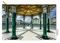 Carry-all Pouch featuring the photograph On The Bandstand by Chris Lord