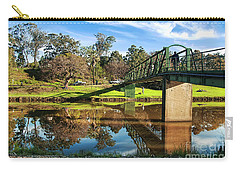Carry-all Pouch featuring the photograph On The Banks Of The River By Kaye Menner by Kaye Menner