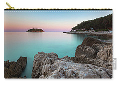 Carry-all Pouch featuring the photograph On The Beach In Dawn by Davor Zerjav