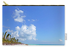 Carry-all Pouch featuring the digital art On The Beach M1 by Francesca Mackenney