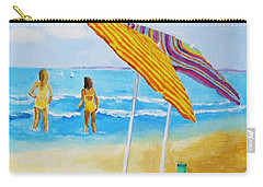 Carry-all Pouch featuring the painting On The Beach by Rodney Campbell