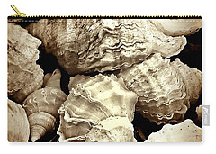 On The Beach - Shells In Sepia Carry-all Pouch