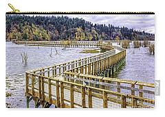 On The Boardwalk  Carry-all Pouch by Jean OKeeffe Macro Abundance Art