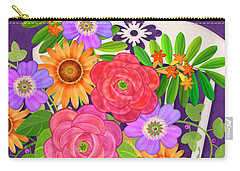 On The Bright Side - Flowers Of Faith Carry-all Pouch