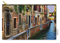 On The Canal-venice Carry-all Pouch by Tom Prendergast