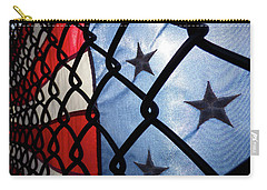 Carry-all Pouch featuring the photograph On The Fence by Robert Geary