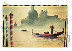 Carry-all Pouch featuring the painting On The Grand Canal Venice Italy by Bill Holkham
