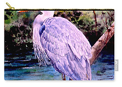 Carry-all Pouch featuring the painting On The Lookout by Sher Nasser