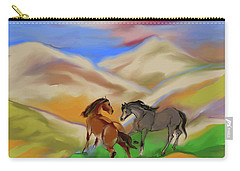 On The Mountian Carry-all Pouch by Mary Armstrong
