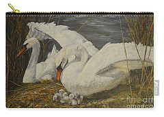 Carry-all Pouch featuring the painting On The Nest by Beatrice Cloake