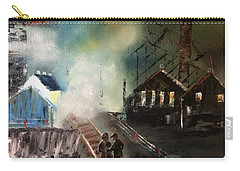On The Pennsylvania Tracks Carry-all Pouch by Denise Tomasura