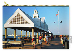On The Pier Carry-all Pouch by James Kirkikis
