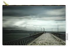 Carry-all Pouch featuring the photograph On The Pier by Perry Webster