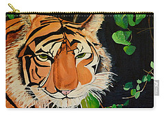 Carry-all Pouch featuring the painting On The Prowl by Donna Blossom