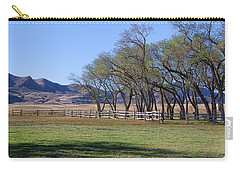 Carry-all Pouch featuring the photograph On The Ranch by Ely Arsha