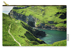 Carry-all Pouch featuring the photograph On The Road To Tintagel by Connie Handscomb