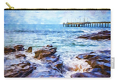 Carry-all Pouch featuring the photograph On The Rocks by Perry Webster