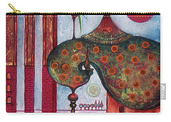 Carry-all Pouch featuring the painting On The Rooftop Of The World by Anna Ewa Miarczynska
