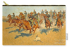 Carry-all Pouch featuring the photograph On The Southern Plains Frederic Remington by John Stephens