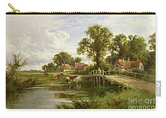 On The Thames Near Marlow Carry-all Pouch by Henry Parker