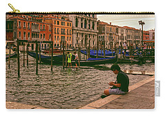 Carry-all Pouch featuring the photograph On The Waterfront by Anne Kotan