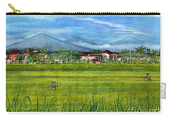 Carry-all Pouch featuring the painting On The Way To Ubud 3 Bali Indonesia by Melly Terpening