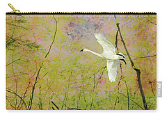Carry-all Pouch featuring the photograph On The Wing by Belinda Greb