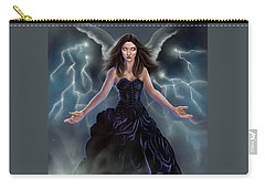 Carry-all Pouch featuring the painting On The Wings Of The Storm by Amyla Silverflame